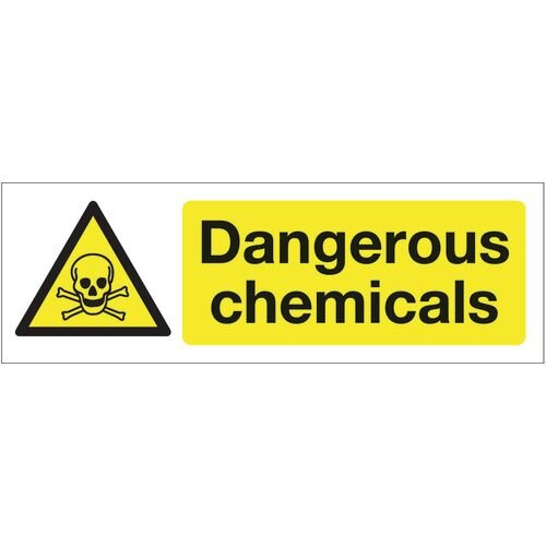 Sign Dangerous Chemicals 600x200 Rigid Plastic