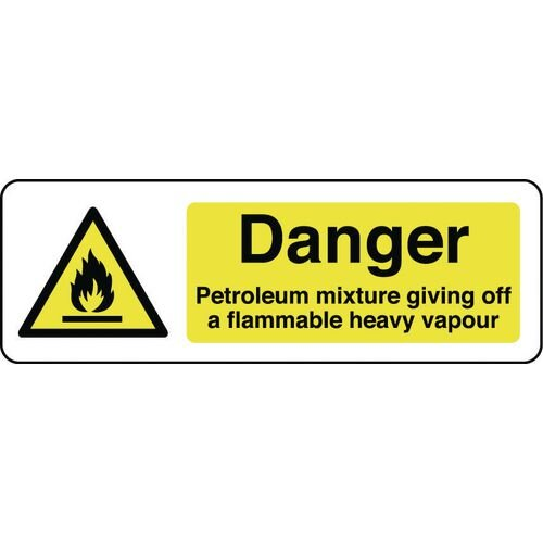 Sign Danger Petroleum Mixture 300X100 Rigid Plastic