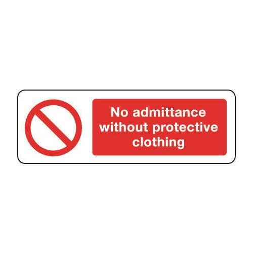 Sign No Admittance Without 300x100 Rigid Plastic