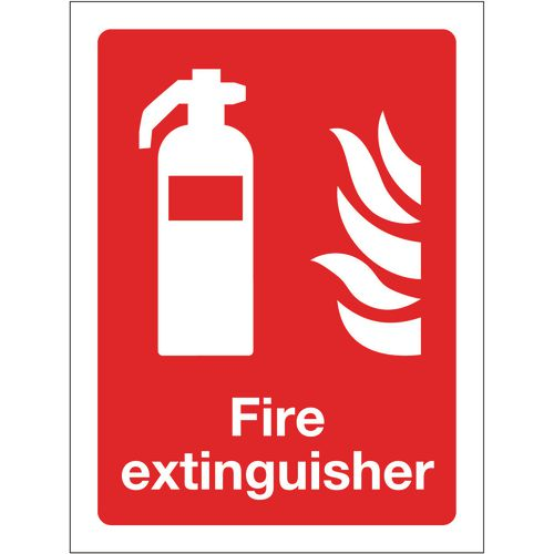 Sign Fire Extinguisher 150x200 Rigid Plastic