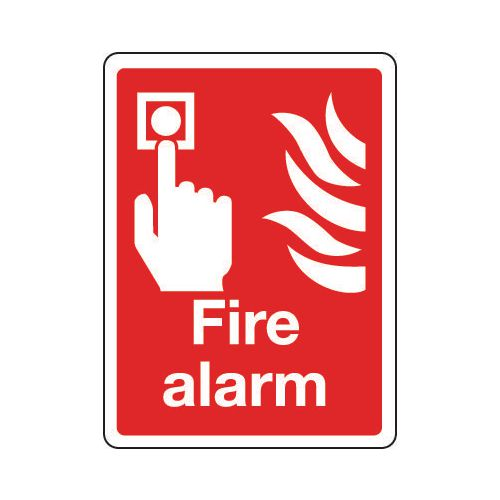 Sign Fire Alarm 150x200 Rigid Plastic