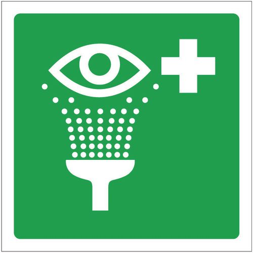 Sign Eye Wash Pictorial 200x200 Rigid Plastic