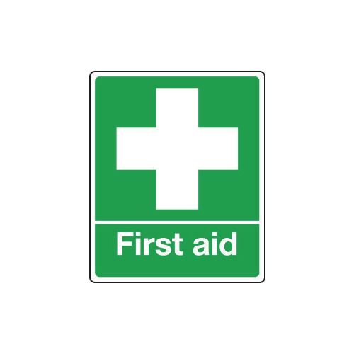 Sign First Aid 75x100 Rigid Plastic Rigid Plastic 75x100 mm