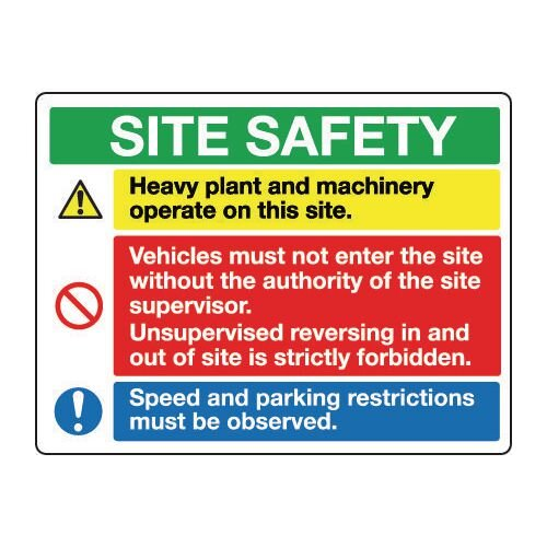 Sign Site Safety 900x600 Rigid Plastic