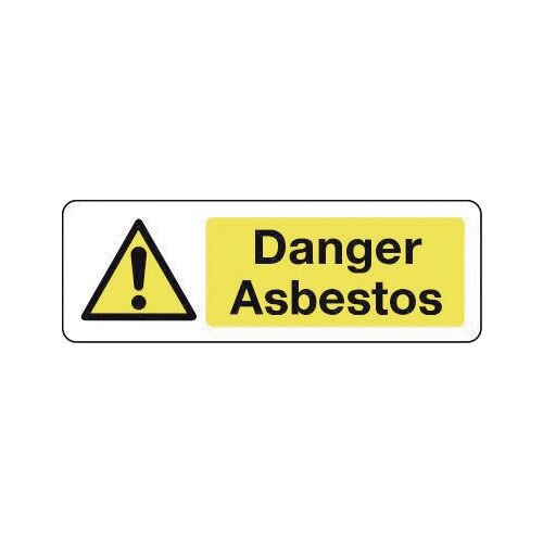 Sign Danger Asbestos 600X200 Rigid Plastic