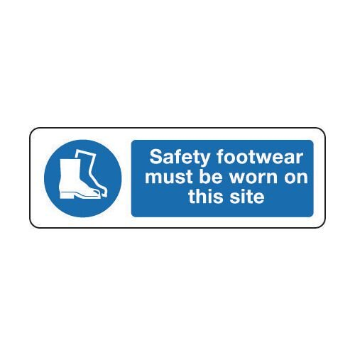 Sign Safety Footwear Must 300x100 Rigid Plastic