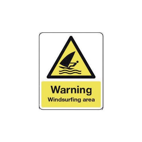 Sign Warning Windsurfing Area 600X200 Rigid Plastic