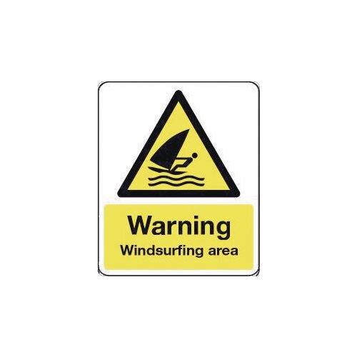 Sign Warning Windsurfing Area 600X200 Rigid Plastic