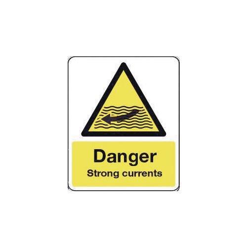 Sign Danger Strong Currents 600X450 Rigid Plastic