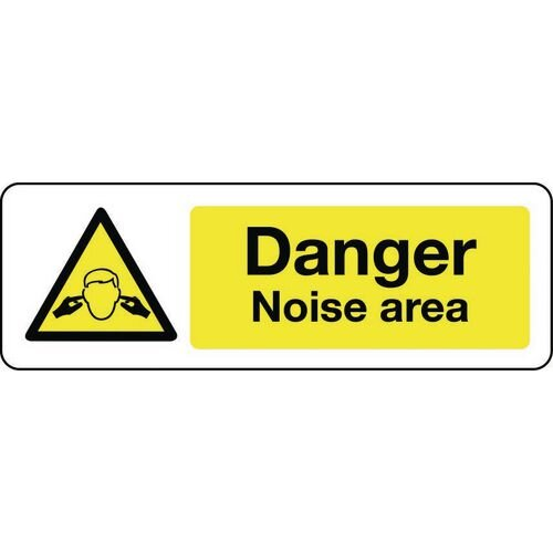 Sign Danger Noise Area Rigid Plastic 600x200