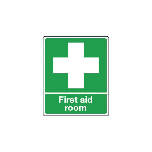 Sign First Aid Room Rigid Plastic 250x300