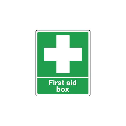 Sign First Aid Box Rigid Plastic 75x100