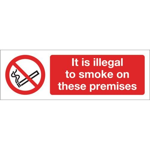 Sign It Is Illegal To Smoke Rigid Plastic 600x200