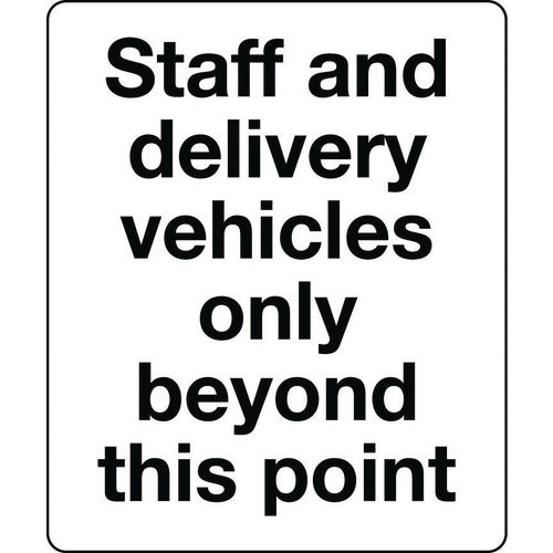 Sign Staff And Delivery Rigid Plastic 250x300