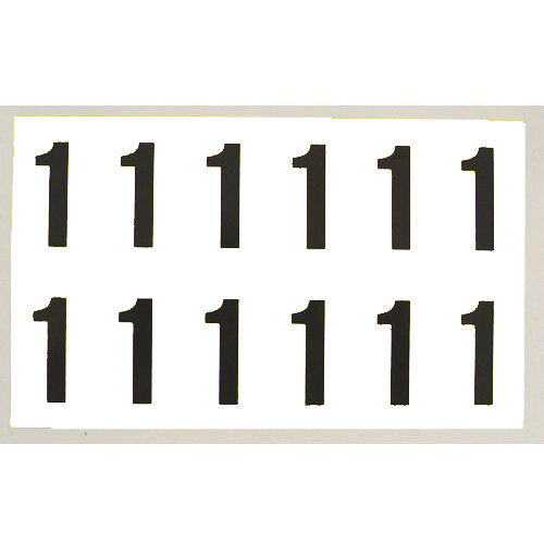 Number 1 White Card 12 Characters/Card 38X21mm
