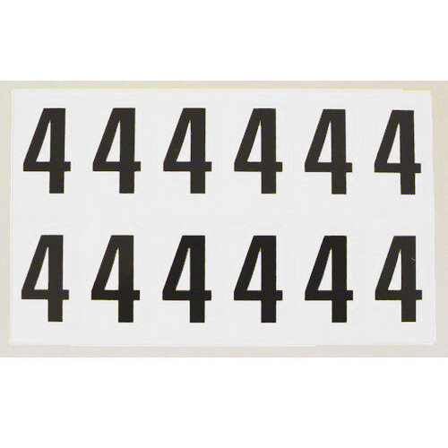 Number 4 White Card 12 Characters/Card 38X21mm