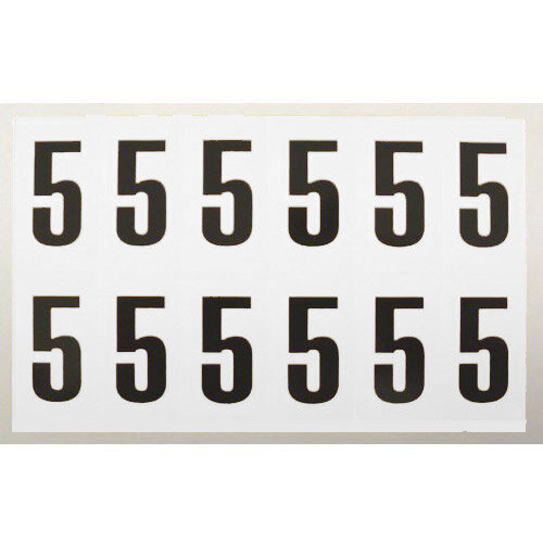 Number 5 White Card 12 Characters/Card 38X21mm