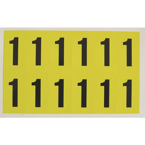 Number 1 12 Characters/Card 38X21mm