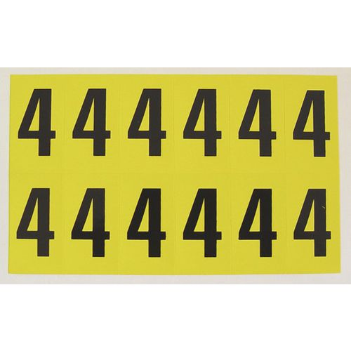 Number 4 12 Characters/Card 38X21mm