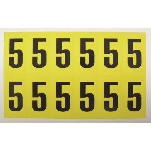 Number 5 12 Characters/Card 38X21mm