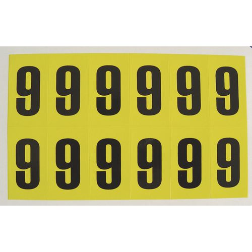 Number 9 12 Characters/Card 38X21mm