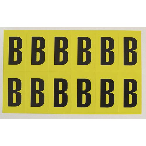 Letter B 12 Characters/Card 38X21mm