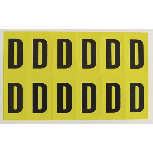 Letter D 12 Characters/Card 38X21mm