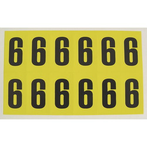 Number 6 12 Characters/Card 56X21mm