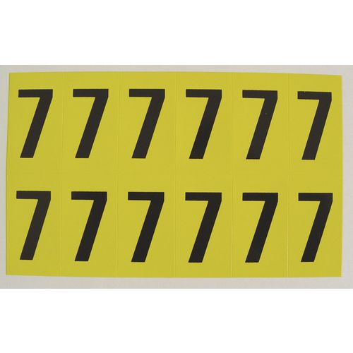 Number 7 12 Characters/Card 56X21mm