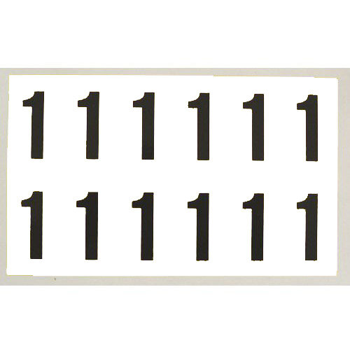 Number 1 White Card 6 Characters/Card 90X38mm