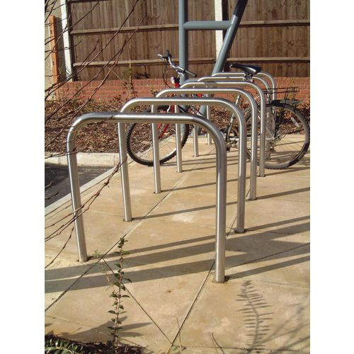 Bicycle Security Stand Galv.Finish Built-In Type