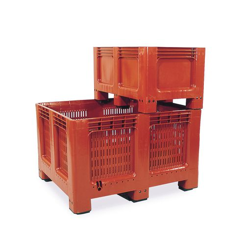 Pallet Box 260 Ltr Geobox Solid Sides+Base C/W 2 Runners