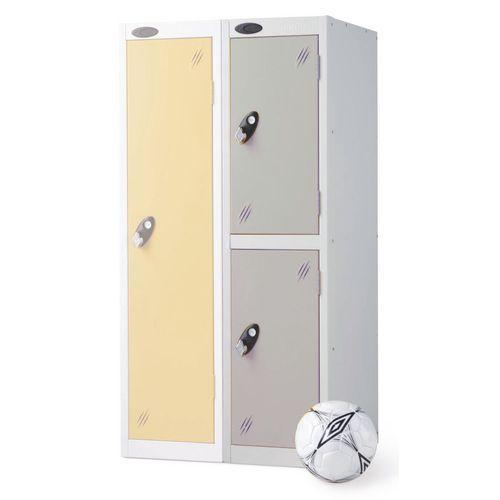 2 Door Low Locker Depth:305mm Silver Door