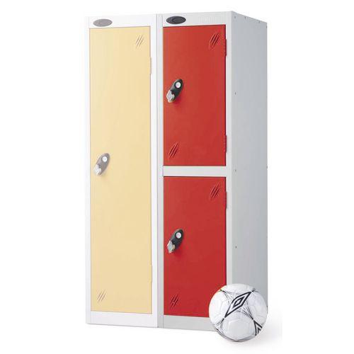 2 Door Low Locker Depth:305mm Red Door