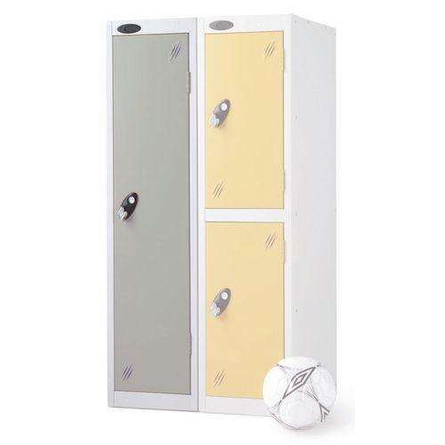 1 Door Low Locker Depth:305mm Silver Door