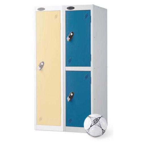 2 Door Low Locker Depth:460mm Blue Door