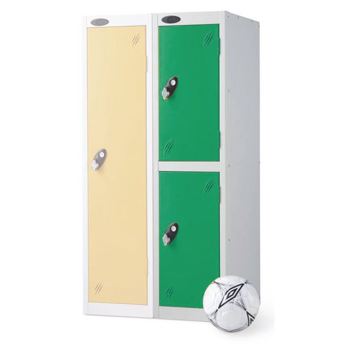 2 Door Low Locker Depth:460mm Green Door