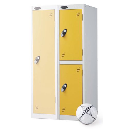 2 Door Low Locker Depth:460mm Yellow Door
