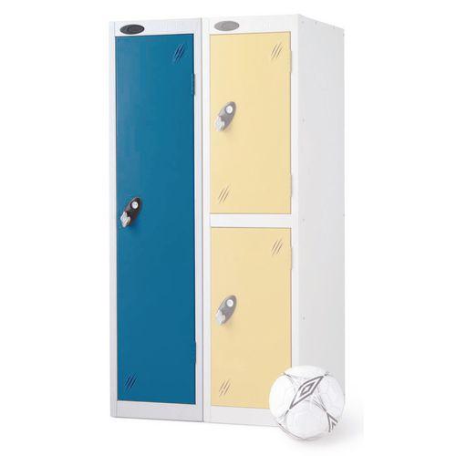 1 Door Low Locker Depth:460mm Blue Door