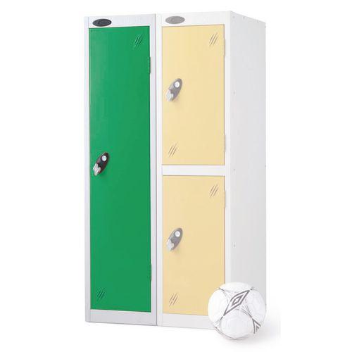 1 Door Low Locker Depth:460mm Green Door