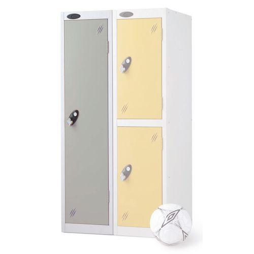 1 Door Low Locker Depth:460mm Silver Door
