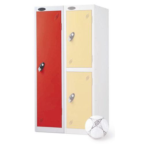 1 Door Low Locker Depth:460mm Red Door