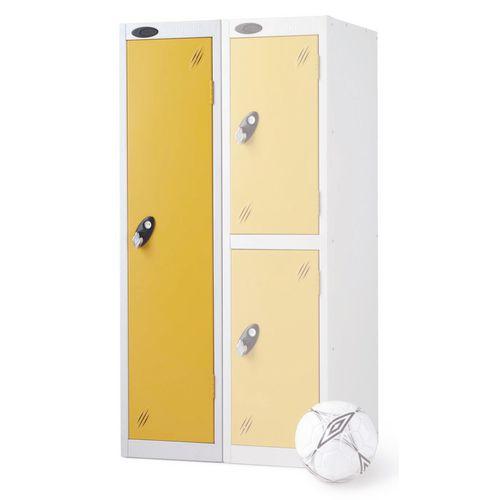 1 Door Low Locker Depth:460mm Yellow Door