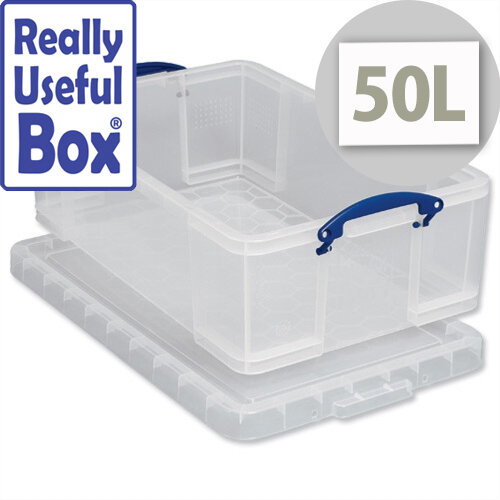 Really Useful Box 50 Litre Capacity Transparent Container