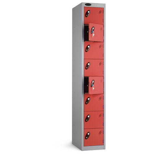 Locker 8 Door White Body Red Door