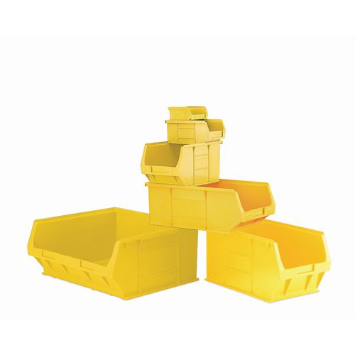 Container Yellow Pack Of 5 Louvre Value 16 LxWxH: 520x310x200