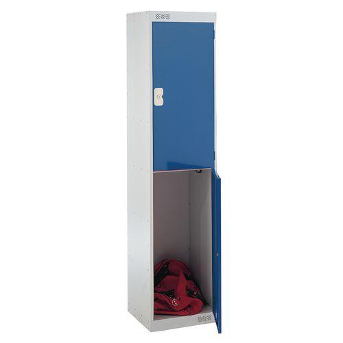 Coloured Door Locker 2 Door Blue Door D300mm