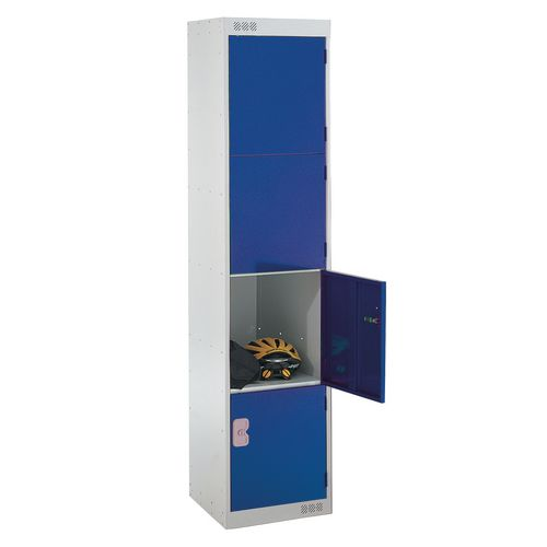Coloured Door Locker 4 Door Blue Door D450mm