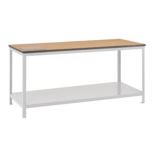 Bench Work Sq.Tube Plastic Top &Lower Steel Shelf 1500X600mm