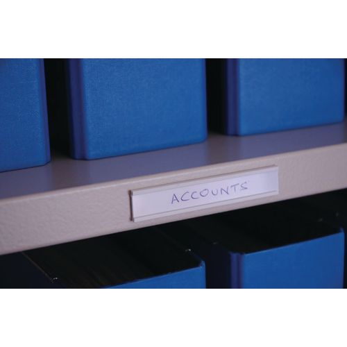 Label Holder Self Adhesive 30X80-Pack Of 100-White Card